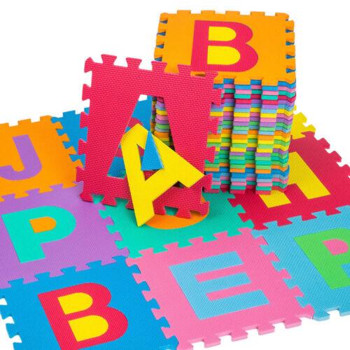 36Pcs Baby Kids Soft Foam Alphabet Puzzle Children Educational Play Mat Toy Set