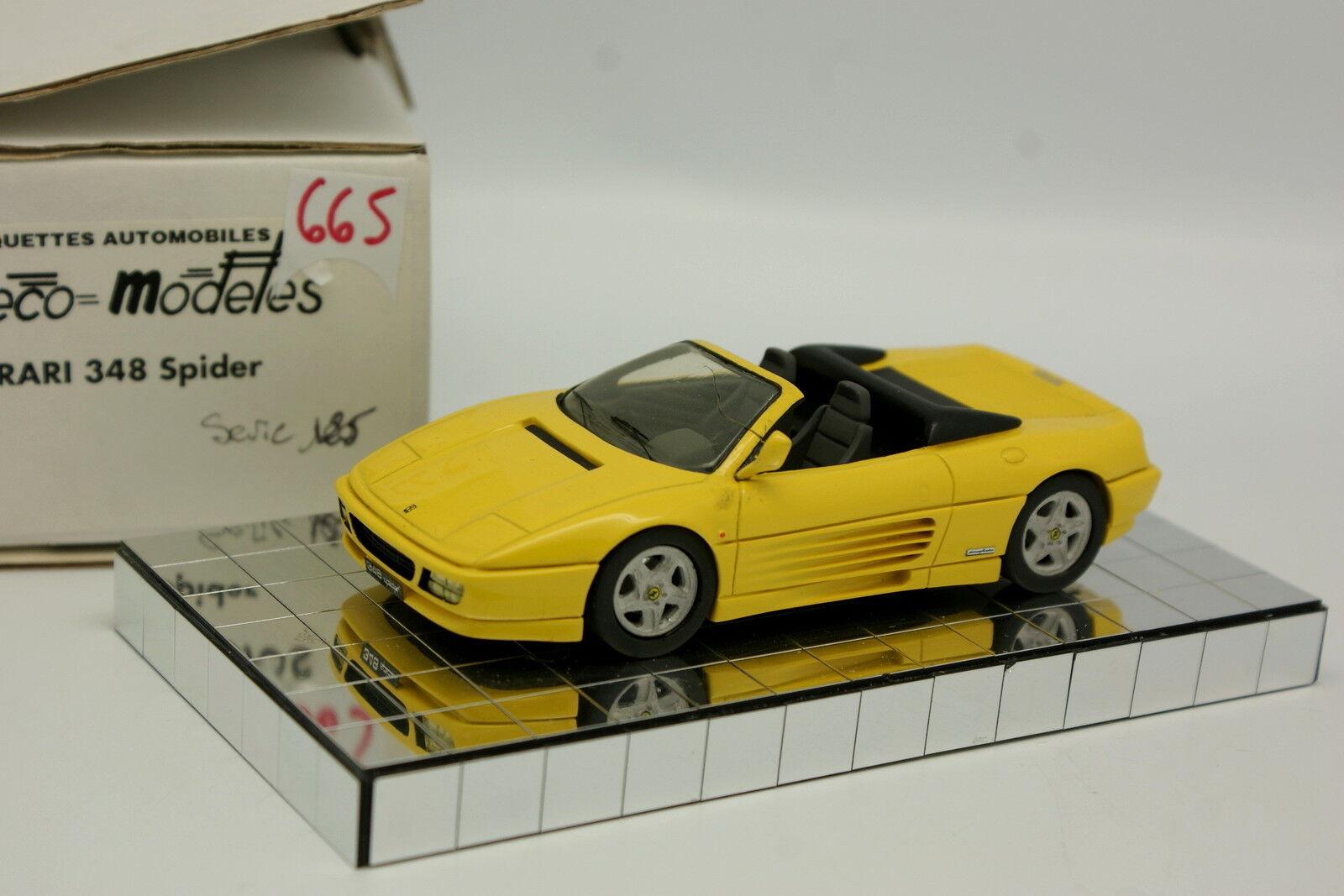 Héco Modèles Résine 1 43 - Ferrari 348 Spider yellow