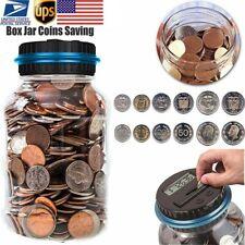 18l Digital Lcd Money Saving Box Bank Large Coin Counting Jar Change Counter