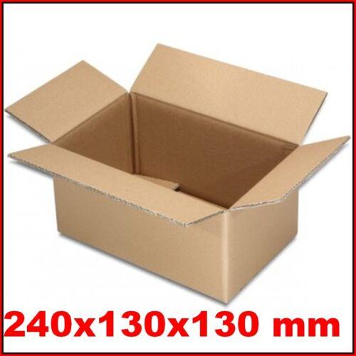 1000 Faltkartons 240x130x130mm Versandkartons Faltschachteln Kartons Faltkarton