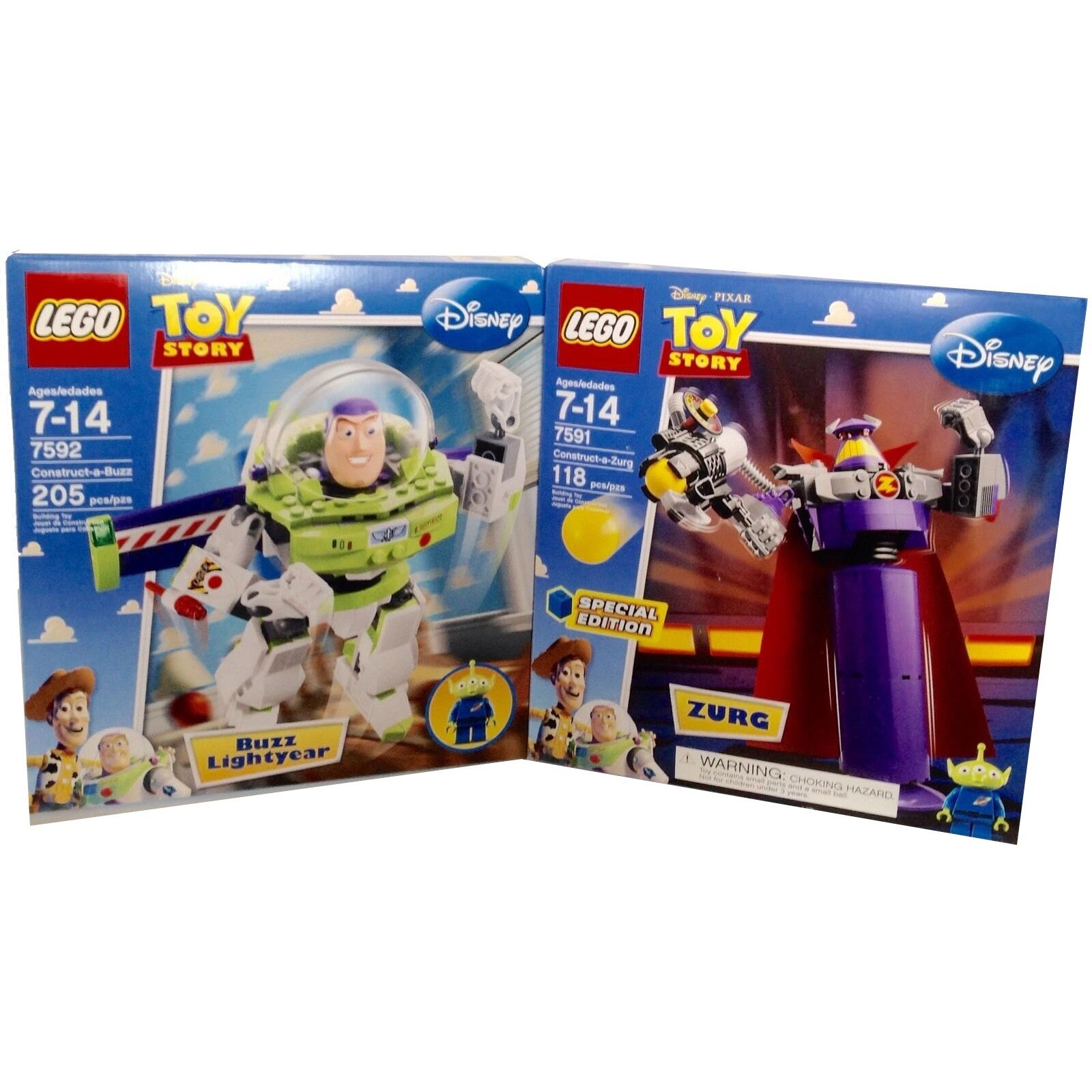 Lego 7591 & 7592 Buzz & Zurg Toy Story LGM Minifigure New Free Ship