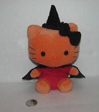 "Ty Sanrio Hello Kitty 6"" Orange - Witch Costume Hallowe'en - Hat, Cape"