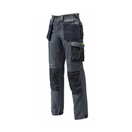 APACHE Twill Cargo Workwear Pantaloni Cordura Knee FONDINA Tasche Grigio