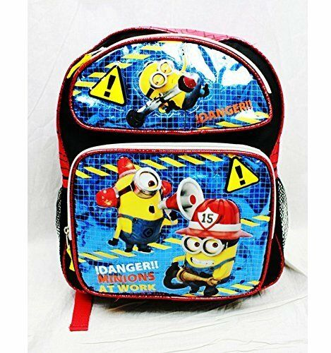 "Danger Minion At Work Despicable Me 2 Medium Size 14/"" School Bag Backpack"
