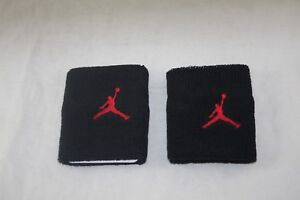 TempéRé Jordan Bracelet Adulte Unisexe 2 Pack 214759-026 Noir/rouge-afficher Le Titre D'origine Circulation Sanguine Tonifiante Et Douleurs D'ArrêT