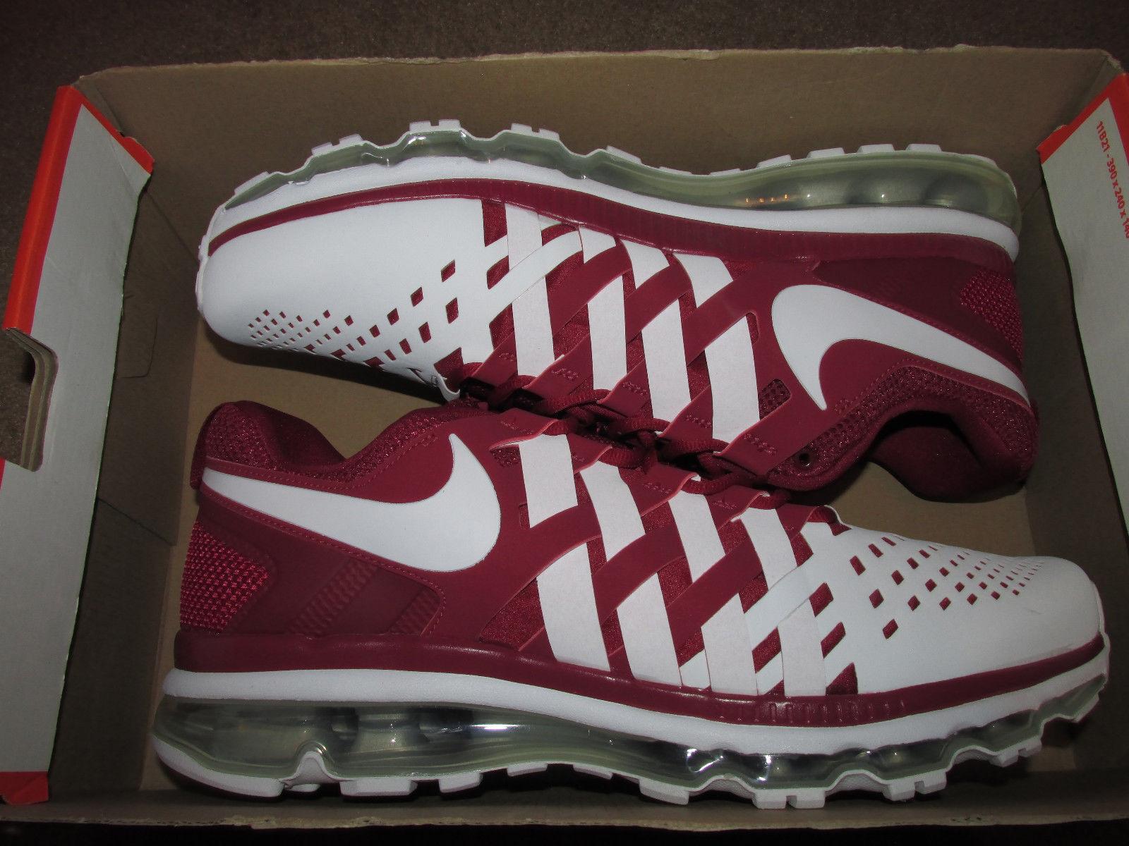 Nike tr max 360 tbc scarpe da corsa squadra crimson bianco 599286-602 Uomo sz 14