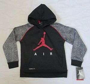 7af171cab555 NIKE AIR JORDAN JUMPMAN THERMA-FIT Boys Pullover Hoodie Sweatshirt ...