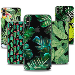 Various-Tropical-Leaves-Plants-Clear-TPU-Case-For-iPhone-8-7-7Plus-5-SE-6S-Plus
