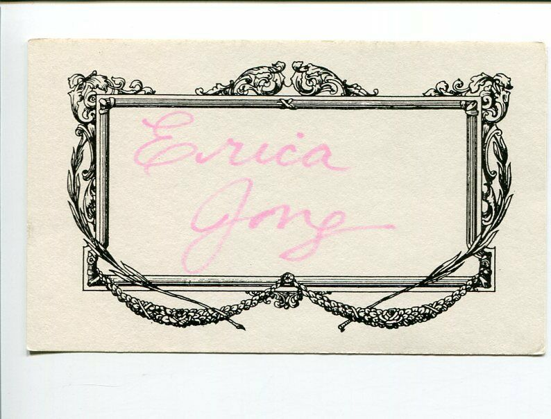 Erica Jong Erotic Fear Of Flying Author Poet Signed Autograph 1