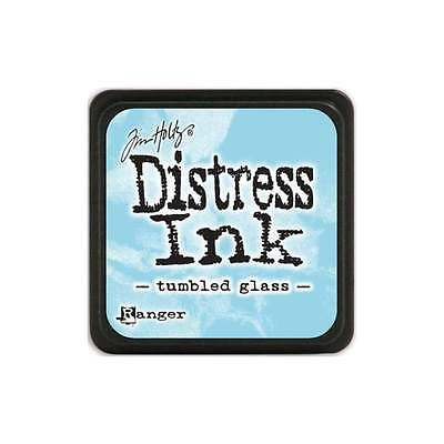 Tim Holtz Mini Distress Ink Pad TUMBLED GLASS Light Blue