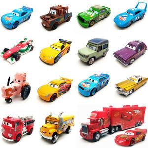 Disney Pixar Cars All series Lightning McQueen Racers 1:55 Diecast Kid Toy Loose