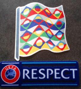 Audacieux Nations League Patch Badge + Respect Pour Maillot De Foot France, Italie,espagne Vente De Fin D'AnnéE