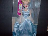 Cinderella Porcelain Princess Doll -disney 14 Tall Brass Key Collection
