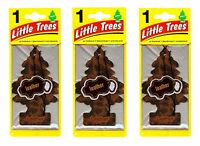 Leather Scented Little Trees Hanging Car Air Fresheners 24pk Sealed