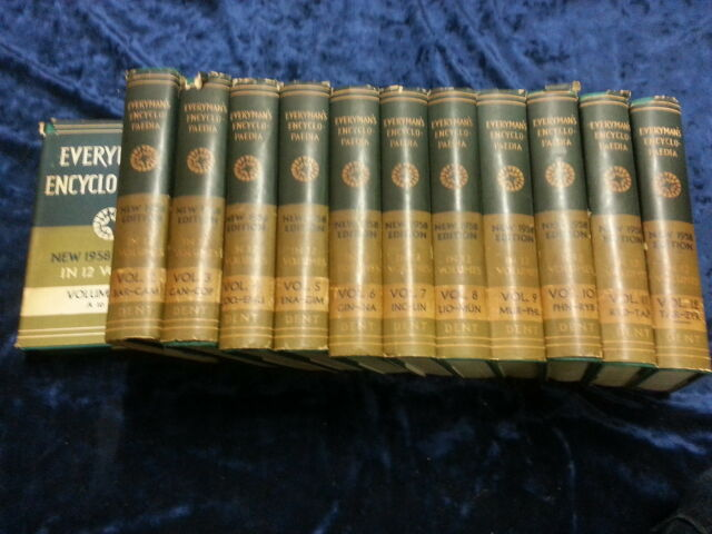 EVERYMAN'S ENCYCLOPAEDIA IN 12 VOLUMES ** FOURTH EDITION WITH DUST JACKETS **