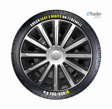 "16"" Ford Transit Wheel Trims Hubcaps X4 Black & Silver R16 SINGLE REAR WHEEL!"