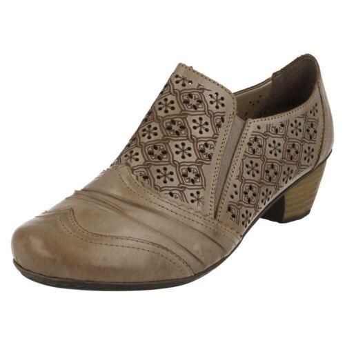 Damas Beige antideslizante en Antiestrés Pantalones De Cuero Zapatos 41735