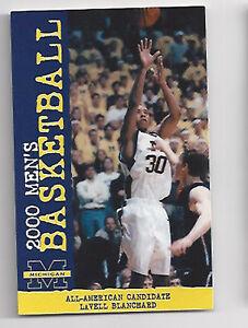 Details About 2000 Michigan Wolverines Original College Basketball Schedule