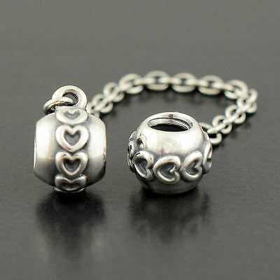 Authentic Genuine Pandora Silver Love Connection Safety Chain 5cm - 791088-05