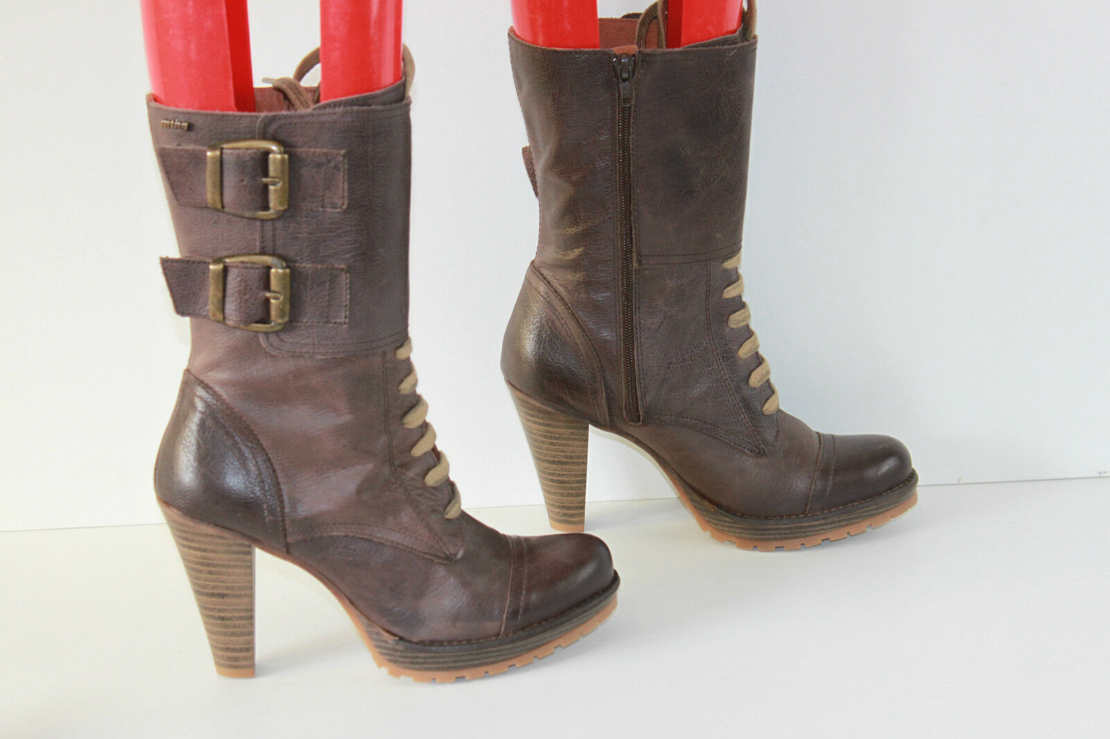Bottines à lacets MTNG Originals Cuir brown T 39 TTBE
