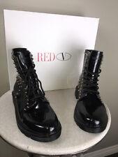 Red Valentino Sz 41 Black Rubber Silver Stud Rain Boots - NWB