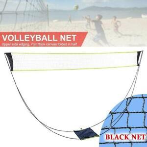 Portable Outdoor Foldable Badminton Tennis Volleyball Net Stand Set Beach Sport