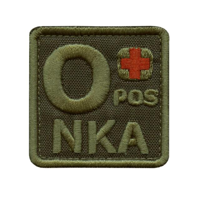 2AFTER1 ONEG O NEG Blood Type Multicam OCP USA America Flag NKA NKDA No Known Allergies IFAK Morale Tactical Hook/&Loop Patch