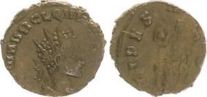 Antoninian 270 Romanos Época Imperial / Quintillus Fides Levanta N. L. VF XF MBC