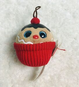 Ty Baby Beanies Coco Ginger Cupcake Happy Holiday