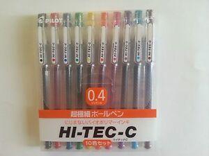 Pilot Hi-Tec-C Gel Pen 0.4mm 10 Pen GIFT SET