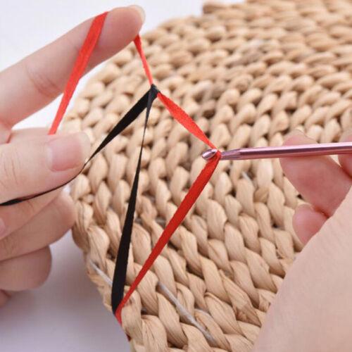 14Size Long Tunisian Afghan Crochet Hooks Aluminum Knitting Needles Weaving Tool
