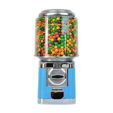 Blue Vending Bubble Gum Bulk Vending Gumball Candy Machine Metal Base 25 Cents