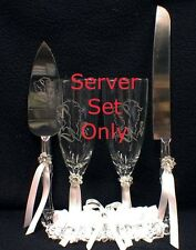 Beauty and the Beast Belle Wedding Cake Knife & Server ONLY, NO GLASSES Disney