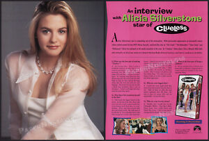 CLUELESS-Original-1995-Trade-Print-AD-ADVERT-ALICIA-SILVERSTONE-interview-ad