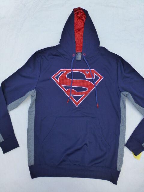 520618fba Superman Hoodie Mens Large Sweatshirt DC Comics Navy Blue Shield for ...