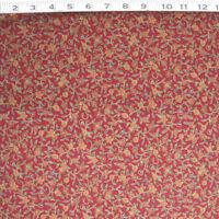 C770-03m Hoffman Gilded Wooodblocks Mini Floral Burgundy Cotton On Sale By Yard