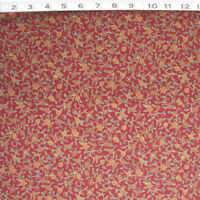C770-03m Hoffman Gilded Wooodblocks Mini Floral Burgundy Cotton On Sale By Yard