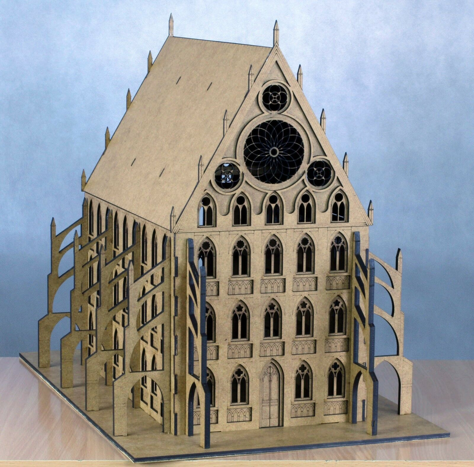 GOTHIC BUILDING - CATHEDRAL - Laser Cut Wargaming Scenery 28mm W40K Bolt Action