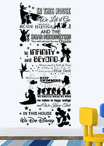 In This House We Do Disney New Wall Sticker Disney Quotes