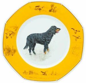 Hermes-Chiens-Courants-amp-Chiens-D-039-Arret-Hermes-Assiette-Plate-Gordon-Setter