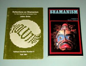 2-Book-SHAMANISM-HEALER-TECHNOLOGICAL-TRANCE-Native-American-Indian-psychedelic