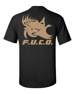 F u c o for us crackers only brand t shirt deer hunting for Fishing t shirts brands
