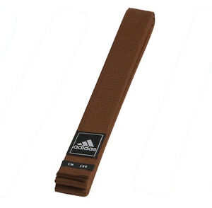 adidas Gürtel braun Judo Karate Ju-Jutsu Taekwondo - 40 mm - Budogürtel