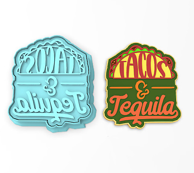 Tacos /& Tequila Cookie Cutter /& StampFiesta Taco Mexican Bachelorette Shower