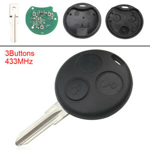 Smart Car Key Replacement >> Details About Replacement Keyless Remote Car Key Fob 433mhz Fit For Mercedes Benz Smart Fortwo