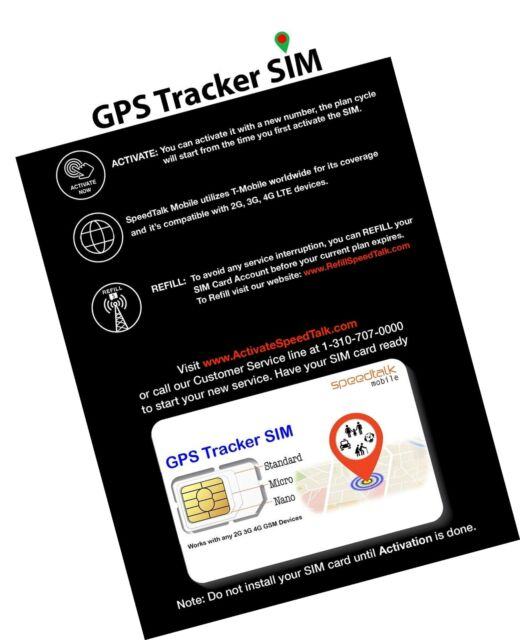 2G//3G SIM CARD FOR TRACKING DEVICES ** FREE £5 CREDIT ON FIRST TOP UP **