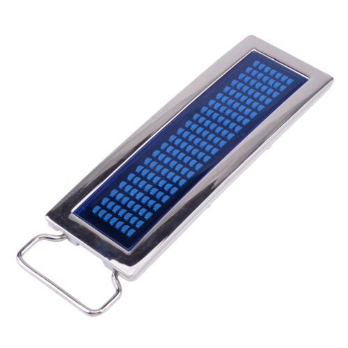 Programmable LED Light Text Screen Display Scrolling LED Chrome Belt Buckle DIY
