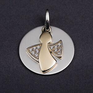 Silber925 Taufkette,Kinderkette,Gravur Platte mit Taufring und Schutzengel