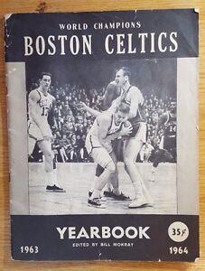 1963-1964-Boston-Celtics-Yearbook-Russell-Jones-Havlicek-Auerbach-Heinsohn