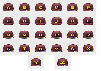 ABC Snapback Cap Letter Buchstaben New Grau A Black Arial Baseball Hat